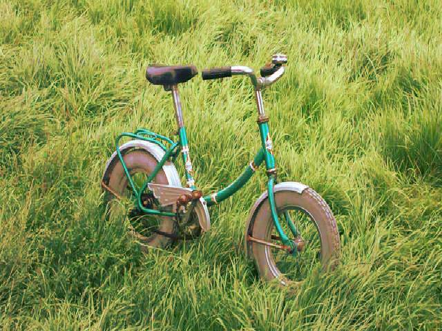 Hij kan fietsen!